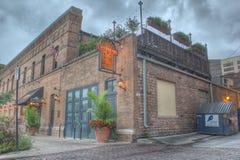 Contra la corriente elaborando cerveza en Omaha Nebraska Imagen de archivo libre de regalías