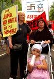 Contra la invasión de Gaza Foto de archivo libre de regalías