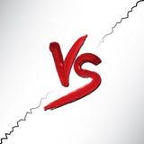 Contra logotipo de las letras Símbolo plano del estilo rojo de V y de S Foto de archivo libre de regalías