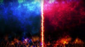 Contra o fundo da luta Animação do laço do conceito da batalha e da comparação Contra a competição de esportes da luta da batalha filme