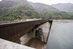 Contra a represa, Suíça Imagem de Stock