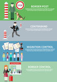 Contraband, border control, post and migration Royalty Free Stock Images