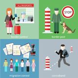 Contraband, border control, post and migration Stock Image