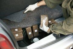 Contrabando de drogas Imagen de archivo libre de regalías