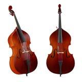 Contrabas, dubbele baarzen. Klassiek muziekinstrument Royalty-vrije Stock Foto's