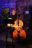 Contrabass. Player during an opera play Royalty Free Stock Photography