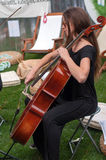 Contrabass performance Stock Photo