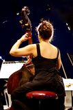 Contrabass player Stock Photography