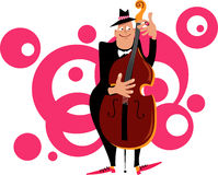 Contrabass player Royalty Free Stock Image