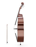 Contrabass side view Stock Images