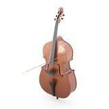 Contrabass on a white Royalty Free Stock Photo