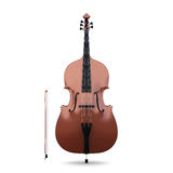 Contrabass  on white Royalty Free Stock Photo