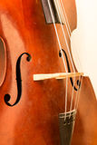 Contrabass wooden instrument details Royalty Free Stock Photo