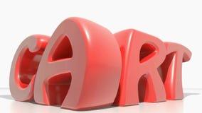 Contracción roja del CARRO y crecimiento en el fondo blanco - vídeo de la representación 3D