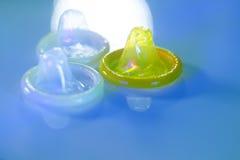 Contraceptif en caoutchouc de préservatif Photographie stock libre de droits