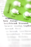 Contraception and pregnancy Royalty Free Stock Images