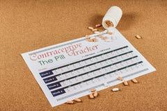 Contraceptive tracker sheet royalty free stock photography
