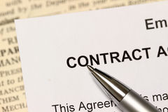 The Contract Royalty Free Stock Images