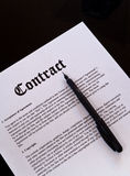 The Contract Stock Image