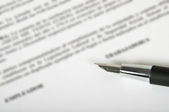 Contract Stock Afbeelding