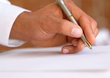 A contract Stock Image