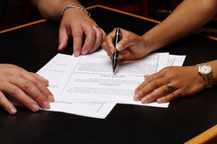 Contract 2 Royalty Free Stock Photos