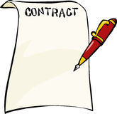 Contract. On a white background vector royalty free illustration