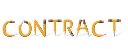 Contract vector illustratie