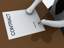 Contract #4.  royalty free illustration