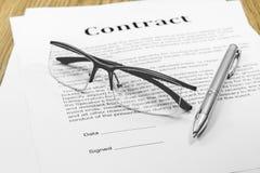 Contract stock afbeeldingen