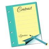 Contract royalty-vrije illustratie