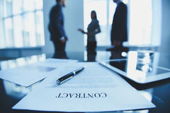 Contract royalty-vrije stock afbeeldingen