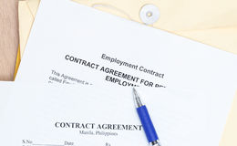 Contract agreement Royalty Free Stock Image