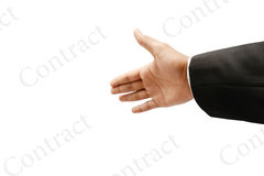 Contract agreement Royalty Free Stock Photo
