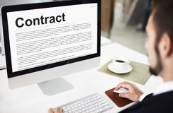 Contract Agreement Commitment Obligation Negotiation Concept Stock Photography
