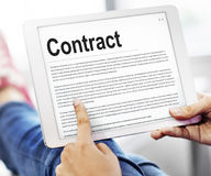Contract Agreement Commitment Obligation Negotiation Concept Stock Image