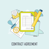 Contract agreement concept Stock Image