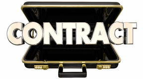 Contract Agreement Deal Briefcase Sale Customer Royalty Free Stock Images