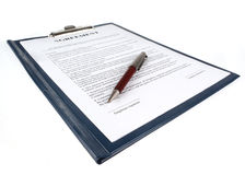 The contract (agreement) Royalty Free Stock Image