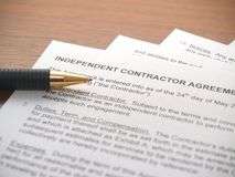 Contract Agreement Papers stock photography