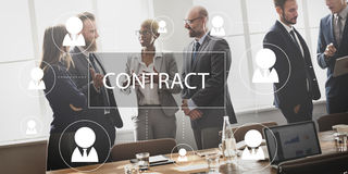 Contract Agreement Promise Contractor Contraction Concept. Business Contract Agreement Promise Contractor Contraction stock photos
