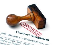 Contract assignment Royalty Free Stock Photo