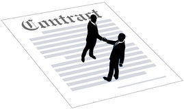 Contract business people sign agreement Royalty Free Stock Image