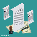 Contract, candidate choice, recruitment vector concept Royalty Free Stock Photography
