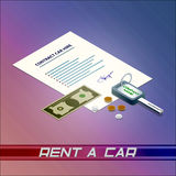 Contract car hire Royalty Free Stock Image