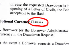 Contract clauses Stock Photography