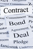 Contract Concept Stock Photography
