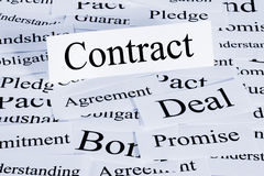 Contract Concept Stock Photos