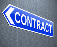 Contract concept. Stock Photography