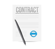 Contract concept illustration design Stock Images
